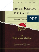 Compte Rendu de La IX IGC1903