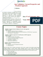 Brochure for Computerized Systems Validation
