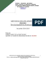 Metodologie Admitere Inv Postliceal Sanitar 2014 2015