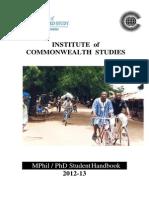 ICwS Handbook 2012-13
