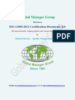 ISO 13485:2012 Certification Documents by Global Manager Group