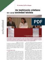 Cronica de las III Jornadas de Católicos y Vida Pública de Burgos (Boletín ACdP 1128 - Octubre 2009)