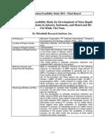MRT Feasibility Study JAKARTA