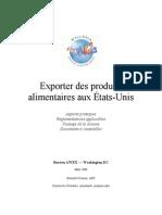 Exporter Des Produits Alimentaires Aux Etats-Unis - 20 3 2008