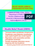 Health Belief Model (Hbm) &