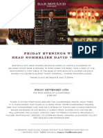 Friday Wine Evenings at Bar Boulud, September 2014