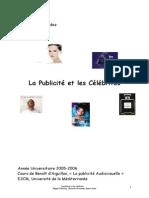 Publicite Et Celebrites