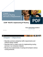 1. Planning Routing Services to Requirements