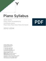 Piano Syllabus 2012-2014 [Hyperlinked]PDF