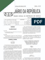 Lei 20-11 Lei de Bases de Investimento Privado