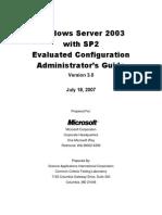 Windows Server 2003 SP2 Administrator's Guide 3.0
