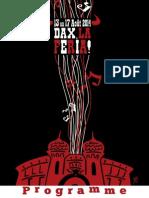 Livret Programme de La Feria de Dax 2014-BD