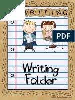 Writing Folder Resource Tool for Aspiring Authors