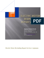 Electric Motor Rewinding Repair Services