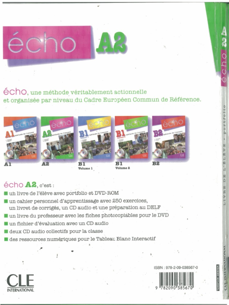 echo a2 methode de francais pdf free download