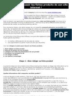 6 étapes pour réussir les fiches produits de son site internet