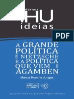 A Grande Politica e Nietzsche e a Politica Que Vem Agamben