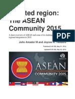 Asean 2015 by Julio Amador III and Joycee A. Teodoro