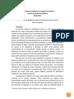 La Participación Ciudadana en La Gestión de Gobierno a Través de Audiencias Públicas