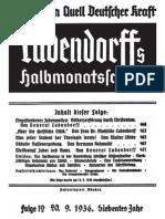 Am Heiligen Quell Deutscher Kraft, Ludendorffs Halbmonatsschrift, Folge 12 Von 20.09.1936,