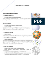 Estructura de La Materia 4º Medio