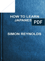 How to Learn Japanese