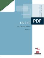 RAD LA-130 Product Manual