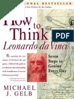 How to Think Like Leonarda Da Vinci