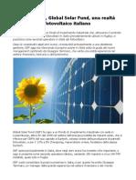 GSF energia solare rilancia la propria azione in Italia