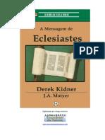 A Mensagem de Eclesiastes - Derek Kidner