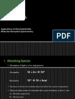 Application of UV Spectrometry