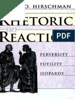 A o Hirschman the Rhetoric of Reaction