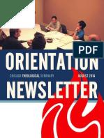 CTS Orientation Newsletter - August 2014