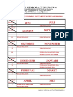 Time Table Danus 2009-2010