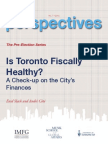 Is Toronto Fiscally Healthy?