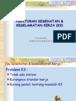 Pengertian Peraturan K3