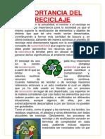 Importancia Del Reciclaje-Oriane