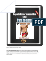 Ropa Interior Masculina Sexi