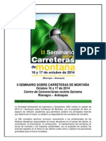 Presentación General II Seminario Sobre Carreteras de Montaña