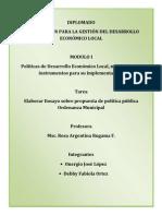 Onergio López -Ordenanza de Educacion