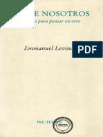 Emmanuel Levinas - Entre Nosotros - Ensayos Para Pensar en Otro