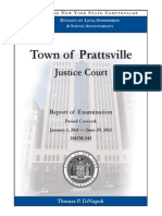 NYS Comptroller's report on Town of Prattsville Justice Court, January 1, 2011 — June 29, 2012