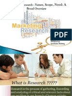 Marketing Research - Nature, Scope, Need a Broad Overview