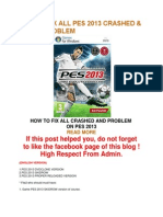 How to Fix All Pes 2013 Crashed
