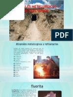 Minerales Metalúrgicos y Refractarios