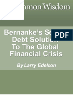 Bernankes Secret Debt Solution