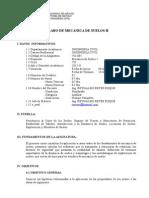 Silabo Mecanica Suelos II 2013 II Fic
