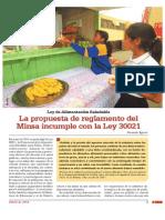 Ley de Alimentación Saludable. La propuesta de reglamento del Minsa incumple con la Ley 30021