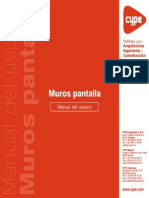 Muros Pantalla - Manual Del Usuario