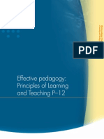 Effective Pedagogy- Principles of Learning and Teaching